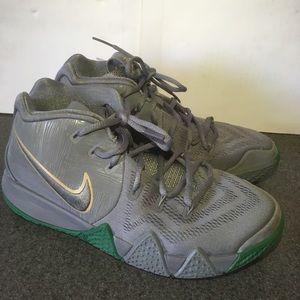 Nike Kyrie 4 AA2897-001 Gray/Green Sz 5Y